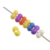 Bow Beads (Farfalle) 3.2x6.5mm Strung Multi Dyed